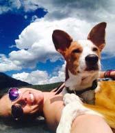 Lauren and her dog
